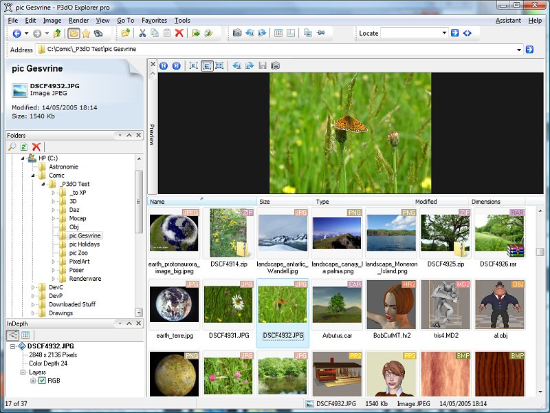 Photos & 3D viewer w thumb cache, explorer